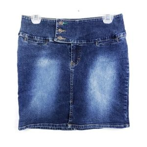Tommy Hilfiger high waist blue denim mini skirt 7